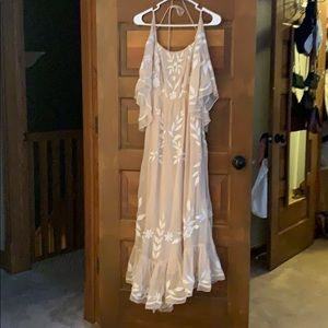 Free People Gown - Ivory with floral detailing
